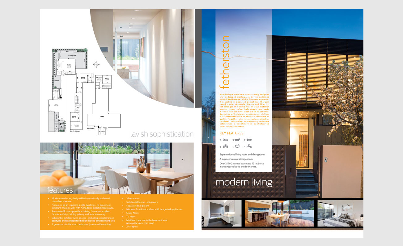 4 page real estate brochure girling design studios
