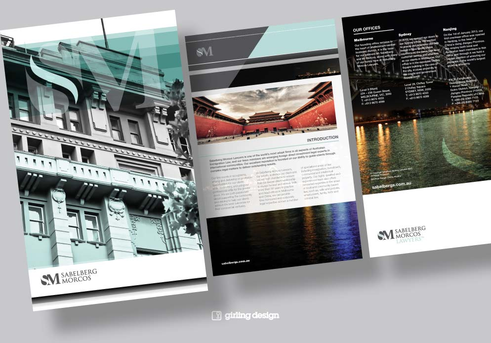 Corporate profile document by Girling Design