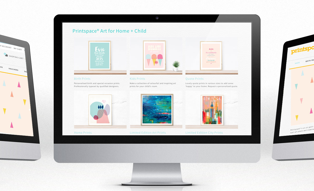 printspace web design by girling design