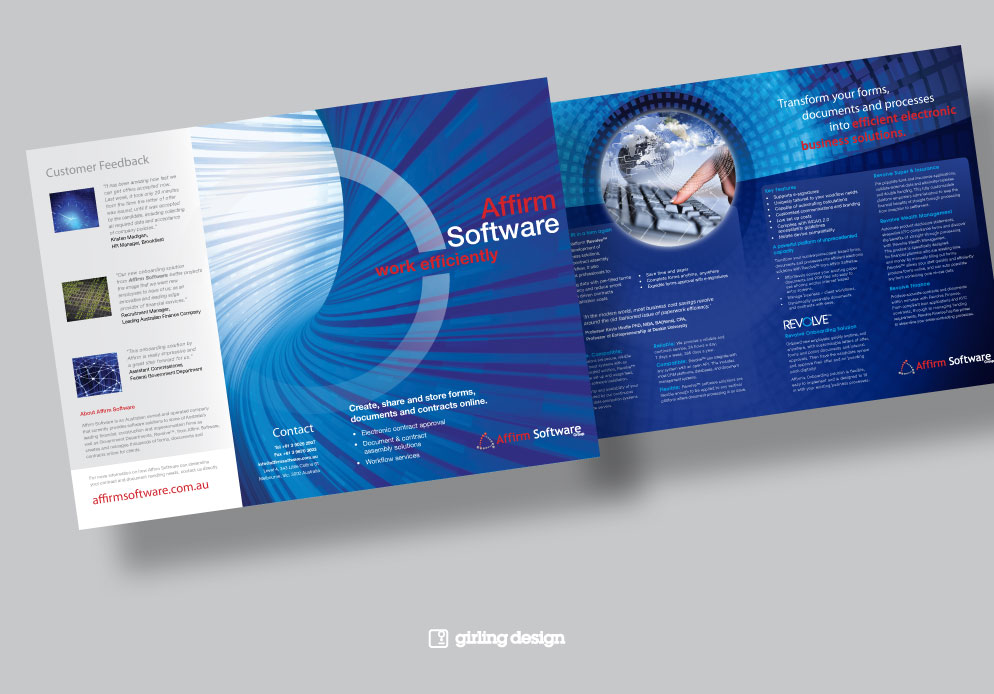 4 Page Brochure Design Software Company - Girling Design Studios