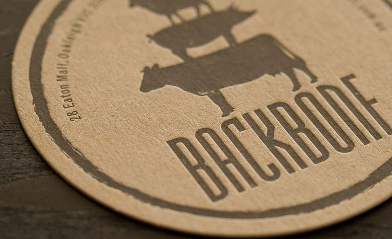 restaurant coaster design and printing girling design